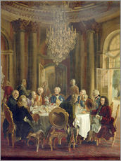 Adolph Friedrich Erdmann von Menzel - Dinner Table at Sanssouci