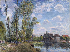 Alfred Sisley - Moret, View of the Loing, Afternoon in May