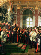 Anton Alexander von Werner - Die Proklamation von Wilhelm als Kaiser des neuen Deutschen Reiches