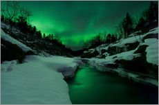 Arild Heitmann - Aurora Borealis over Tennevik River, Troms, Norway.