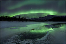 Arild Heitmann - Reflected aurora over a frozen Laksa Lake, Nordland, Norway.