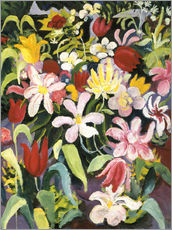 August Macke - Carpet of flowers. In 1913.