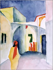August Macke - Ein Blick die Strasse entlang