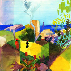 August Macke - Landschaft am Meer. 1914