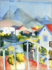 August Macke - Saint Germain bei Tunis. 1914