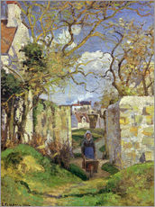 Camille Pissarro - Buerin mit Schubkarre