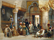 Carl Friedrich Heinrich Werner - Arabic Figures in a Coffee House, 1870