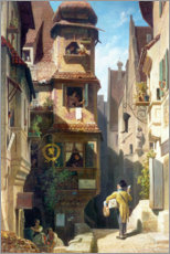 Carl Spitzweg - Der Briefbote im Rosental. Um 1852-59