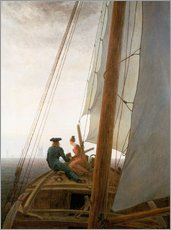 Caspar David Friedrich - Auf dem Segler