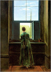 Caspar David Friedrich - Frau am Fenster