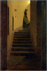Caspar David Friedrich - Frau auf der Treppe