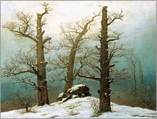 Caspar David Friedrich - Hnengrab im Schnee