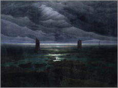 Caspar David Friedrich - Meeresufer im Mondschein