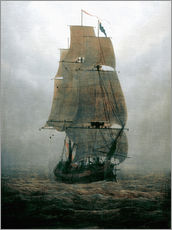 Caspar David Friedrich - Segelschiff im Nebel