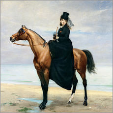 Charles Emile Auguste Carolus-Duran - Equestrian Portrait of Mademoiselle Croizette