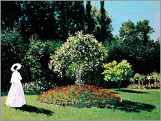 Claude Monet - Dame im Garten