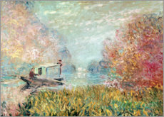 Claude Monet - Das Atelierboot auf der Seine