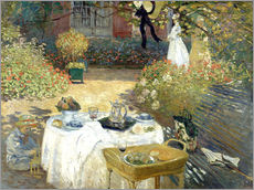 Claude Monet - Das Mittagessen: Monets Garten in Argenteuil
