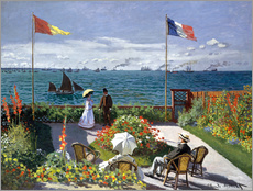 Claude Monet - Die Terrasse von Saint-Adresse