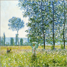 Claude Monet - Felder im Frhling