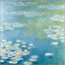 Claude Monet - Gelbe Teichrosen bei Giverny