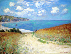 Claude Monet - Path in the Wheat at Pourville, 1882