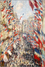 Claude Monet - Rue Montorgueil in Paris an den Feierlichkeiten zum 30. Juni