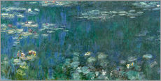 Claude Monet - Waterlilies: Green Reflections (detail) 