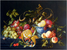 Cornelis de Heem - A Still Life of Fruit