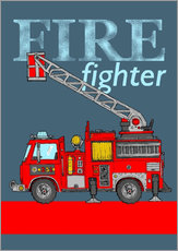 Daniella de Grood - fire fighter fire truck