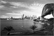 David Wall - Sydney skyline with views of the Opera House and the Sydney Harbour Bridge