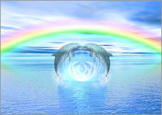  Dolphins DreamDesign - Dolphins Rainbow Healing