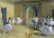 Edgar Degas - The Dance Foyer an der Oper in der Rue Le Peletier