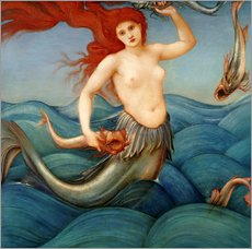 Edward Burne-Jones - A Sea Nymph, 1881