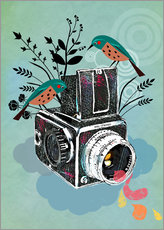 Elisandra - Vintage Camera with Bluebirds