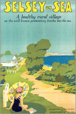 English School - Poster advertising Selsey-on-Sea, 1922