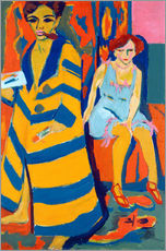 Ernst-Ludwig Kirchner - Selbstprotrt mit einem Model 