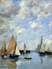 Eug�ne Boudin - The Jetty at High Tide