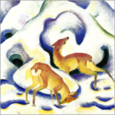 Franz Marc - Rehe im Schnee. 1911.