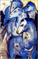 Franz Marc - Tower of blue horses. 1913 (postcard to Else Lasker-Sch�ler)