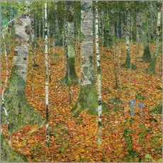 Gustav Klimt - Der Birkenwald