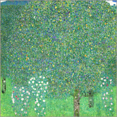 Gustav Klimt - Rosen unter Bumen