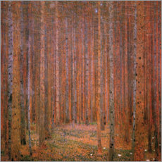 Gustav Klimt - Tannenwald I
