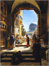 Gustave Bauernfeind - At the Entrance to the Temple Mount, Jerusalem, 1886