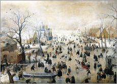 Hendrick Avercamp - Winterlandschaft mit Eislufern