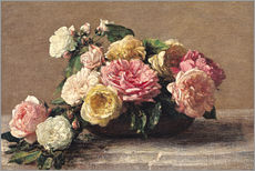Henri Fantin-Latour - Rosen in einer Schale