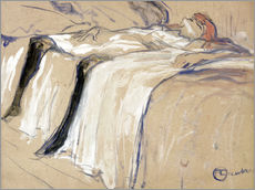 Henri de Toulouse-Lautrec - Frau auf dem Rcken liegend - Trgheit 
