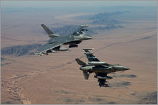 HIGH-G Productions - Two F-16's on a training mission over the Arizona desert.
