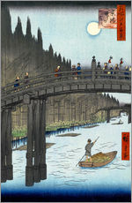  Hiroshige - Kyoto Brcke im Mondlicht 