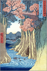  Hiroshige - Die Affenbrcke in der Provinz Kai